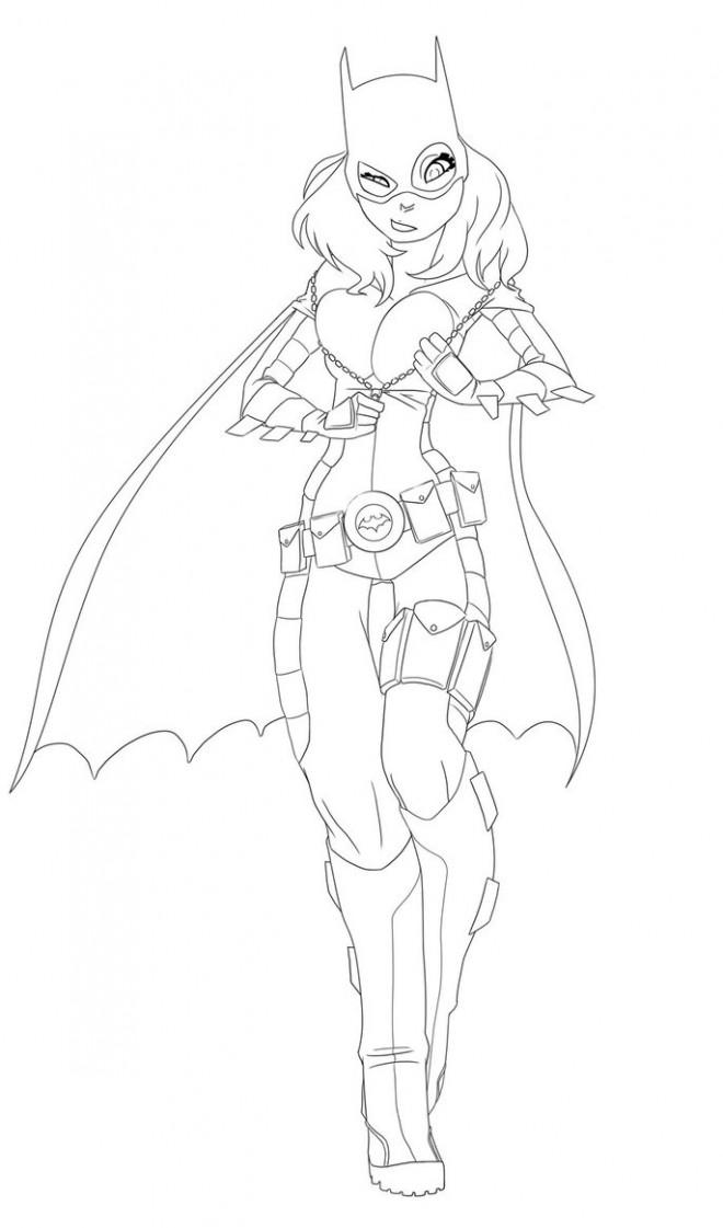 coloriage batgirl  u00e0 colorier dessin gratuit  u00e0 imprimer