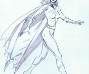 Coloriage Batgirl à découper