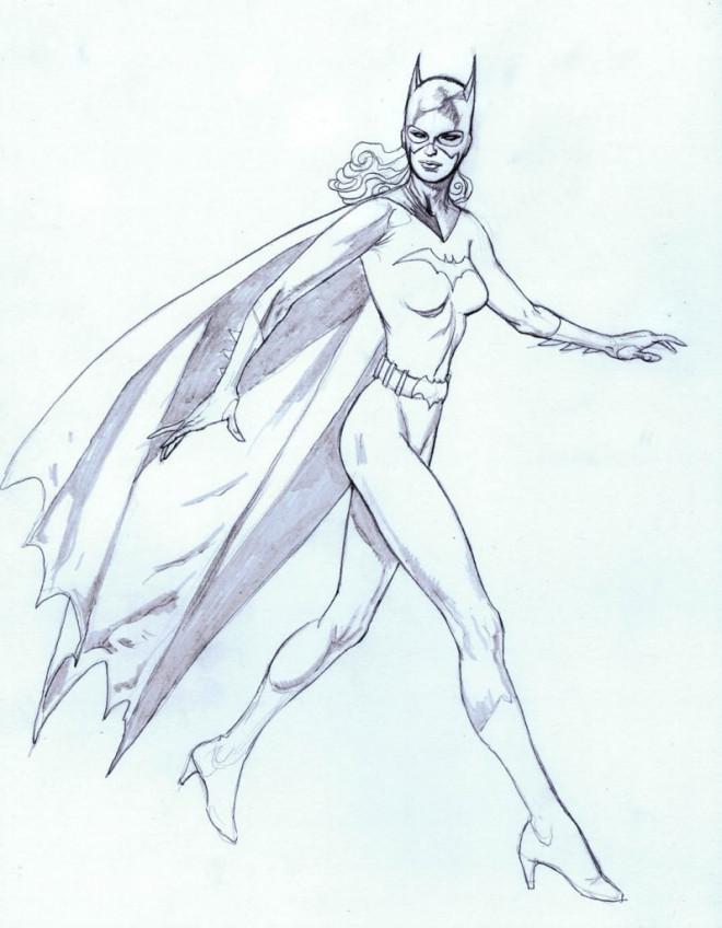 Coloriage et dessins gratuits Batgirl à découper à imprimer
