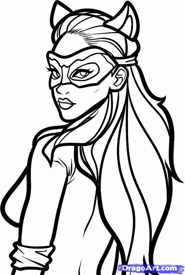 Coloriage et dessins gratuits Batgirl avec Un Masque à imprimer