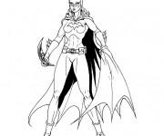 Coloriage Batgirl en couleur