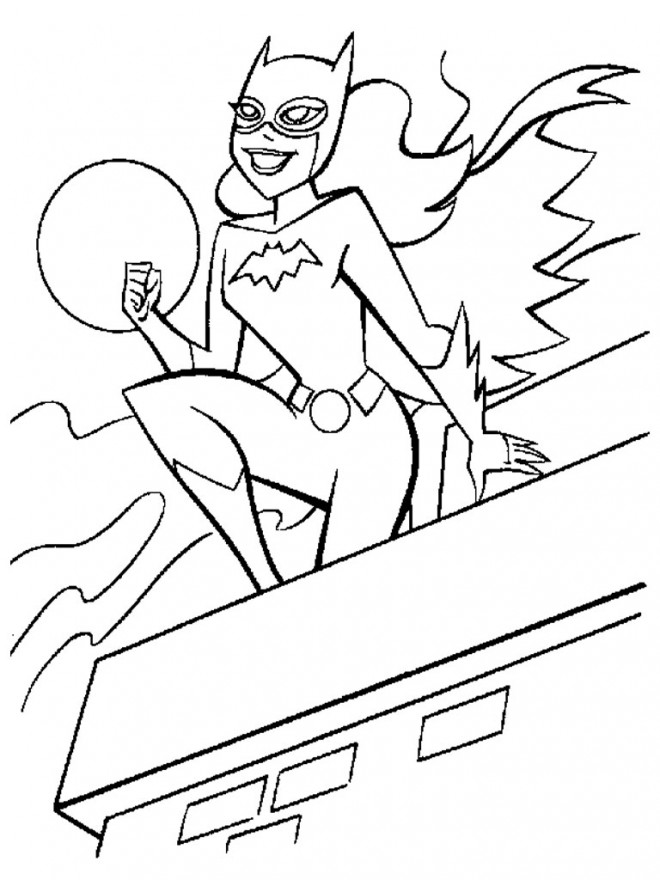 Coloriage et dessins gratuits Batgirl en ligne à imprimer
