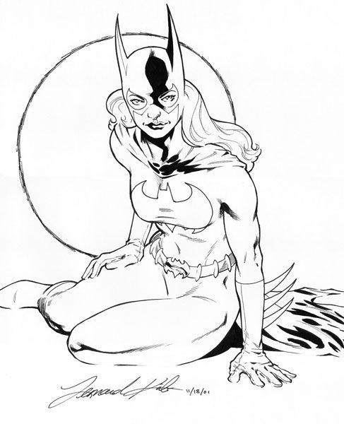 Coloriage et dessins gratuits Batgirl en vecteur à imprimer