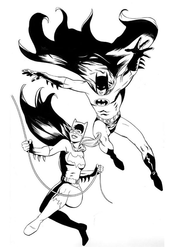 Coloriage batgirl et batman dessin gratuit imprimer - Coloriage a imprimer batman gratuit ...