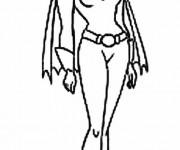 Coloriage Batgirl magique