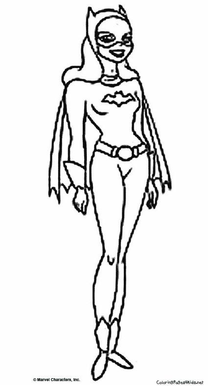 Coloriage et dessins gratuits Batgirl magique à imprimer