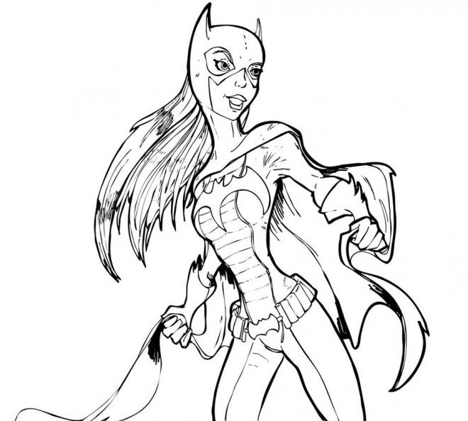 Coloriage et dessins gratuits Portrait de Batgirl à imprimer