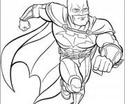Coloriage et dessins gratuit Batman à découper à imprimer