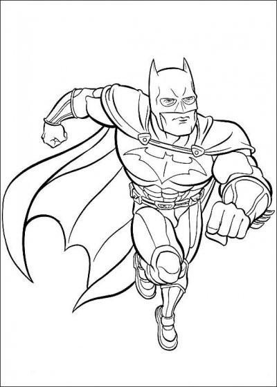 Coloriage Batman A Decouper Dessin Gratuit A Imprimer