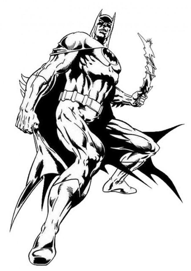 Coloriage et dessins gratuits Batman à télécharger à imprimer