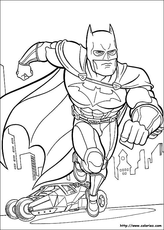 Coloriage et dessins gratuits Batman Affiche à imprimer