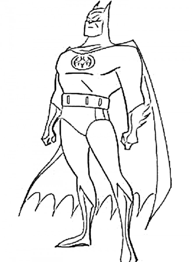 Coloriage Batman Couleur Dessin Gratuit A Imprimer