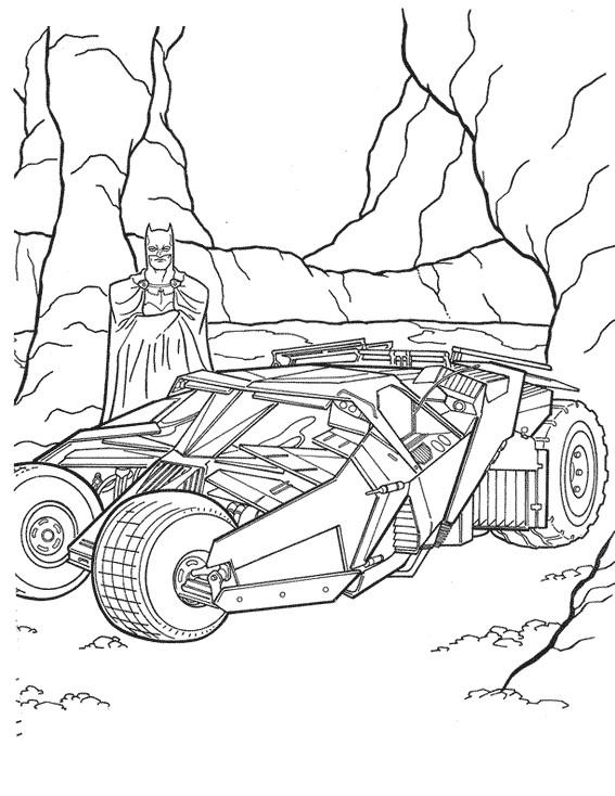 Coloriage et dessins gratuits Batman dans La Cave à imprimer