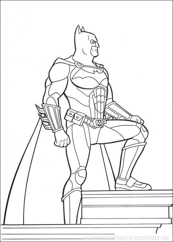 Coloriage et dessins gratuits Batman Debout à imprimer