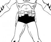 Coloriage et dessins gratuit Batman dessin animé à imprimer