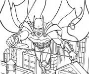 Coloriage et dessins gratuit Batman en L'air à imprimer