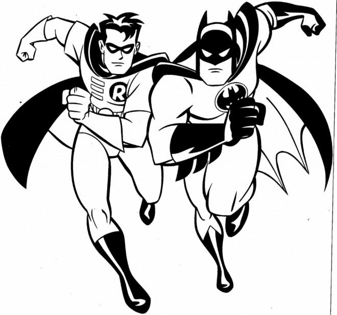 Coloriage batman en noir et blanc dessin gratuit imprimer - Dessins de batman ...