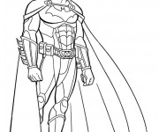 Coloriage Batman équipé