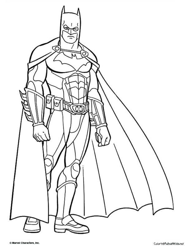 Coloriage et dessins gratuits Batman équipé à imprimer