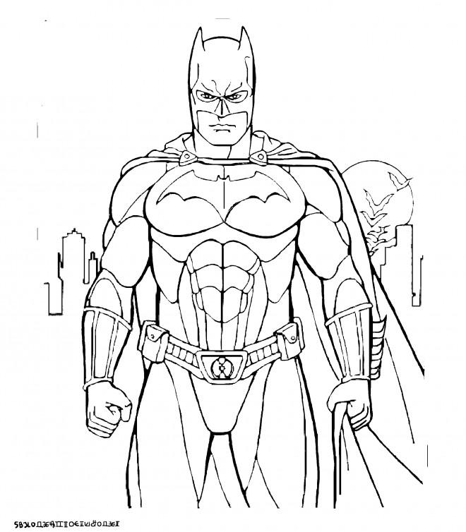 Coloriage Batman Gratuit A Imprimer