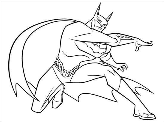 Coloriage et dessins gratuits Batman lance son Arme à imprimer