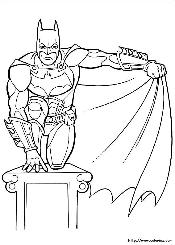 Coloriage et dessins gratuits Batman Le Protecteur de La Ville à imprimer