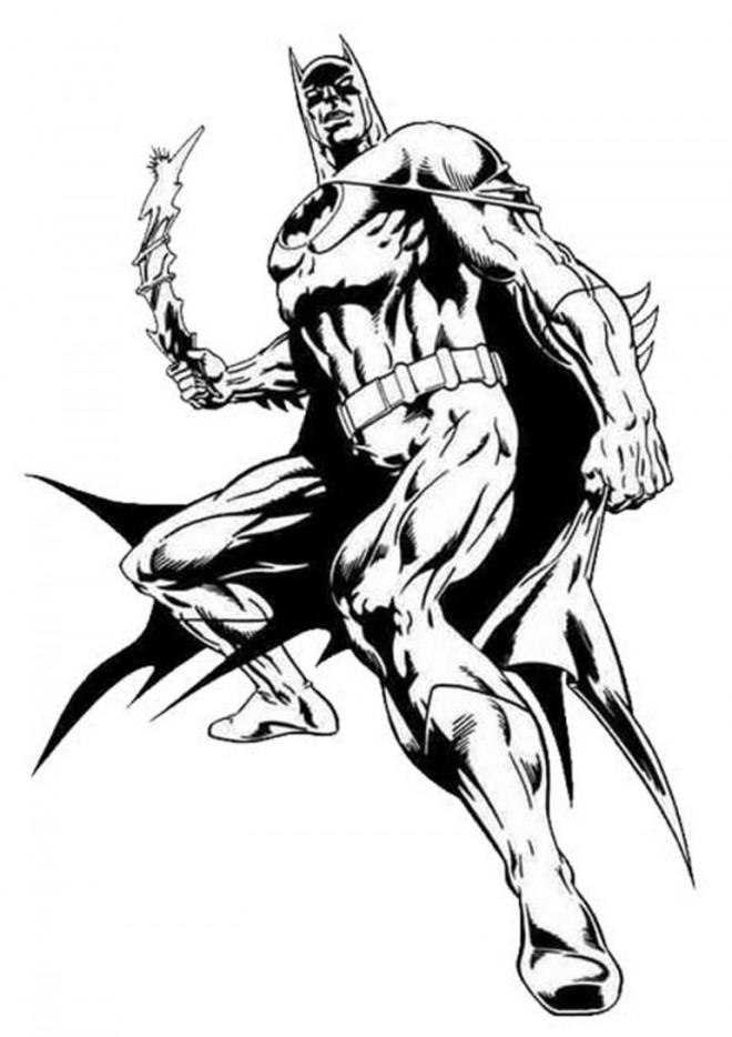Coloriage et dessins gratuits Batman portant son Uniforme à imprimer