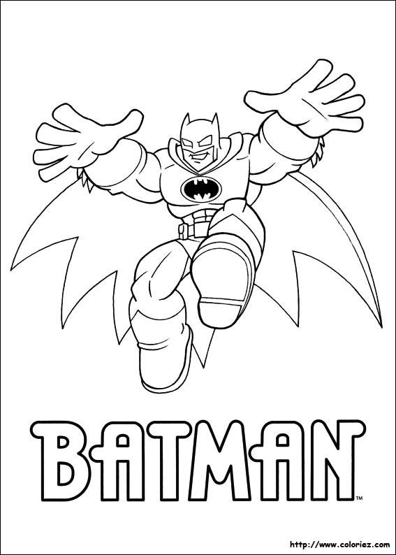 Coloriage et dessins gratuits Batman pour enfant à imprimer