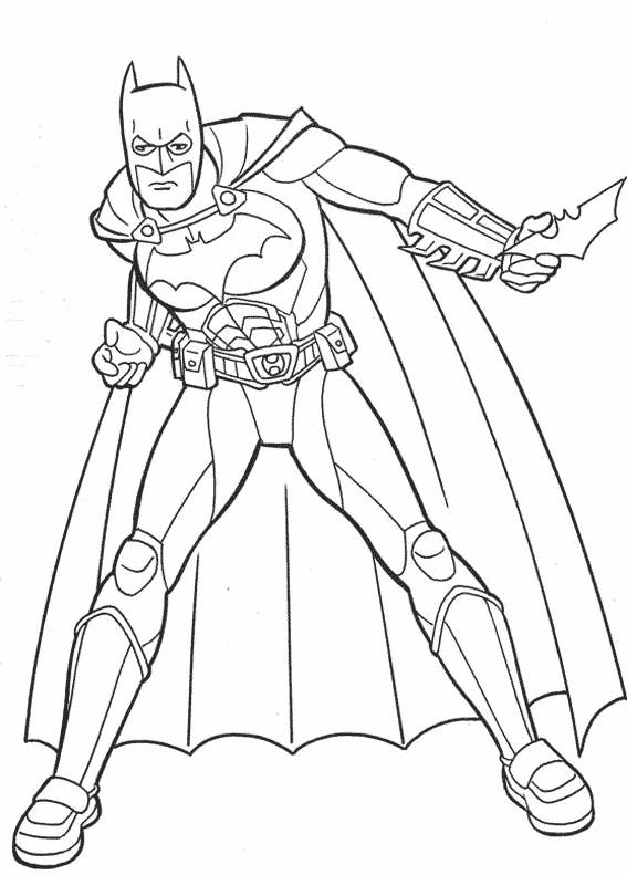Coloriage et dessins gratuits Batman simple à imprimer