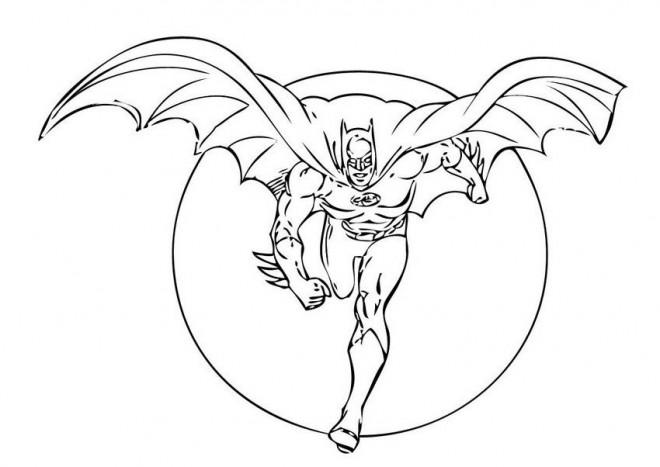 Coloriage et dessins gratuits Batman sort La Nuit à imprimer