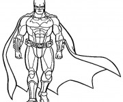 Coloriage Batman stylisé