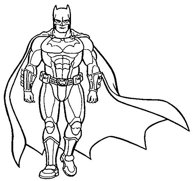 Coloriage batman stylis dessin gratuit imprimer - Superman et batman dessin anime ...