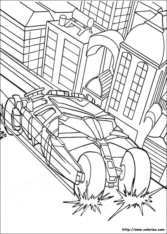 Coloriage et dessins gratuits Batman supervise La cité à imprimer