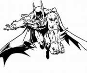 Coloriage Batman vectoriel