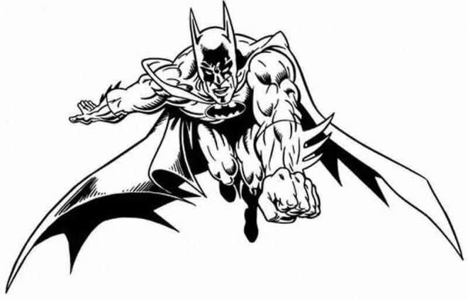 Coloriage et dessins gratuits Batman vectoriel à imprimer