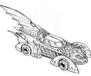 Coloriage Batman Voiture