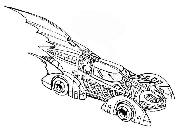 Coloriage batman voiture dessin gratuit imprimer - Dessins de batman ...