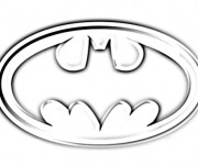 Coloriage Logo Batman