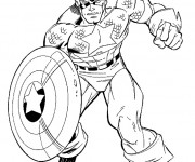 Coloriage Captain America à colorier