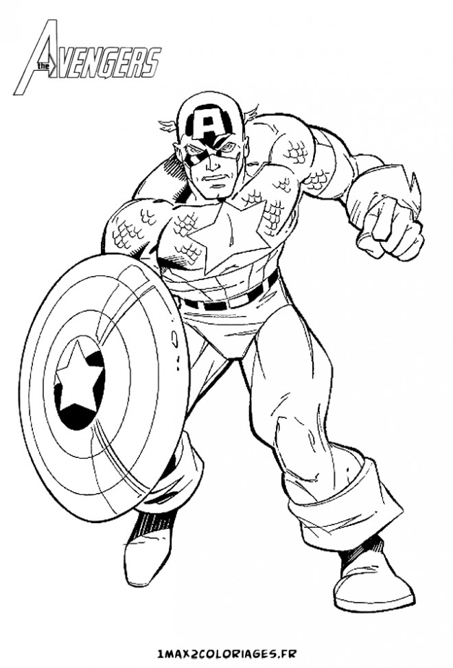 Coloriage Captain America Civil War.Captain America Coloriage Coloriage