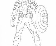 Coloriage et dessins gratuit Captain America à découper à imprimer