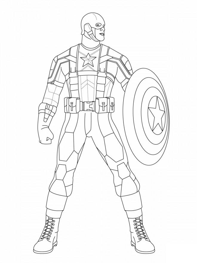 Coloriage et dessins gratuits Captain America à découper à imprimer