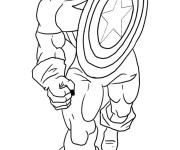 Coloriage et dessins gratuit Captain America au crayon à imprimer