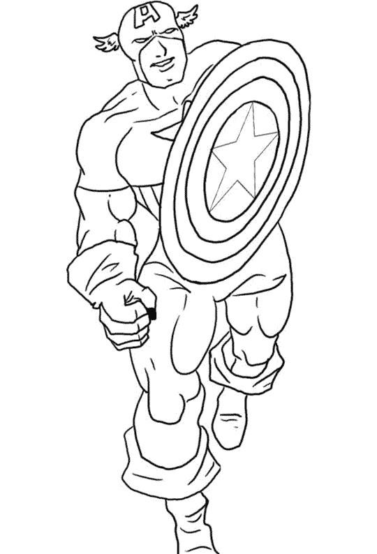 Coloriage et dessins gratuits Captain America au crayon à imprimer