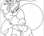Coloriage et dessins gratuit Captain America avec son Masque à imprimer