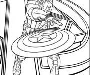 Coloriage et dessins gratuit Captain America Avengers Affiche à imprimer