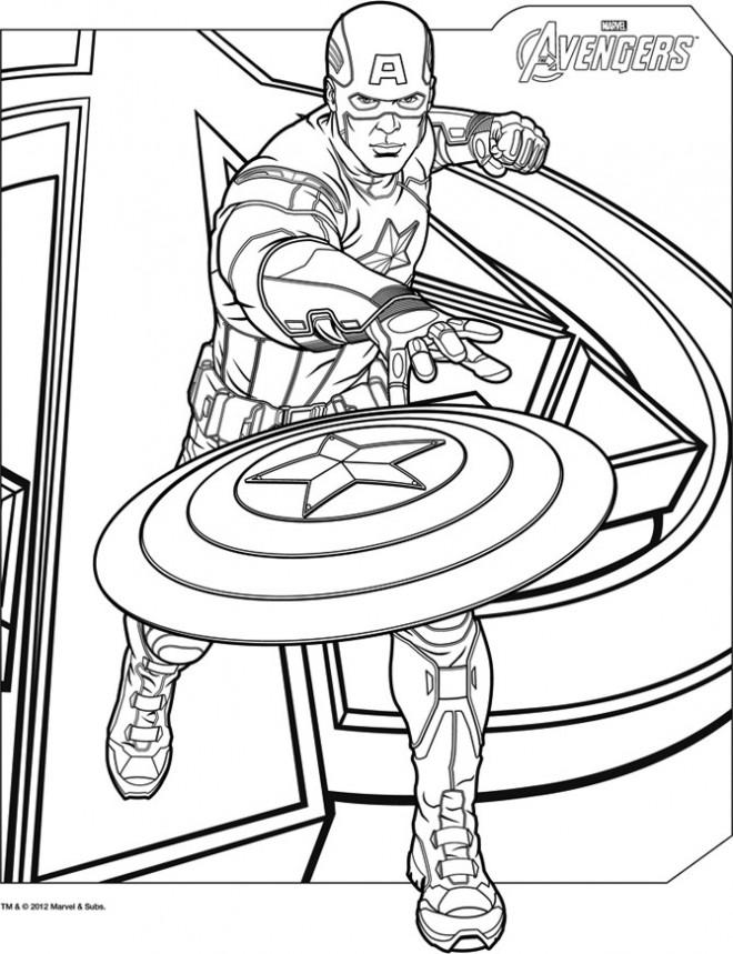 Coloriage captain america avengers affiche dessin gratuit imprimer - Dessin de hulk a imprimer ...