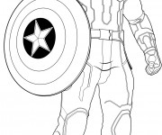 Coloriage Captain America Avengers Age Of Ultron