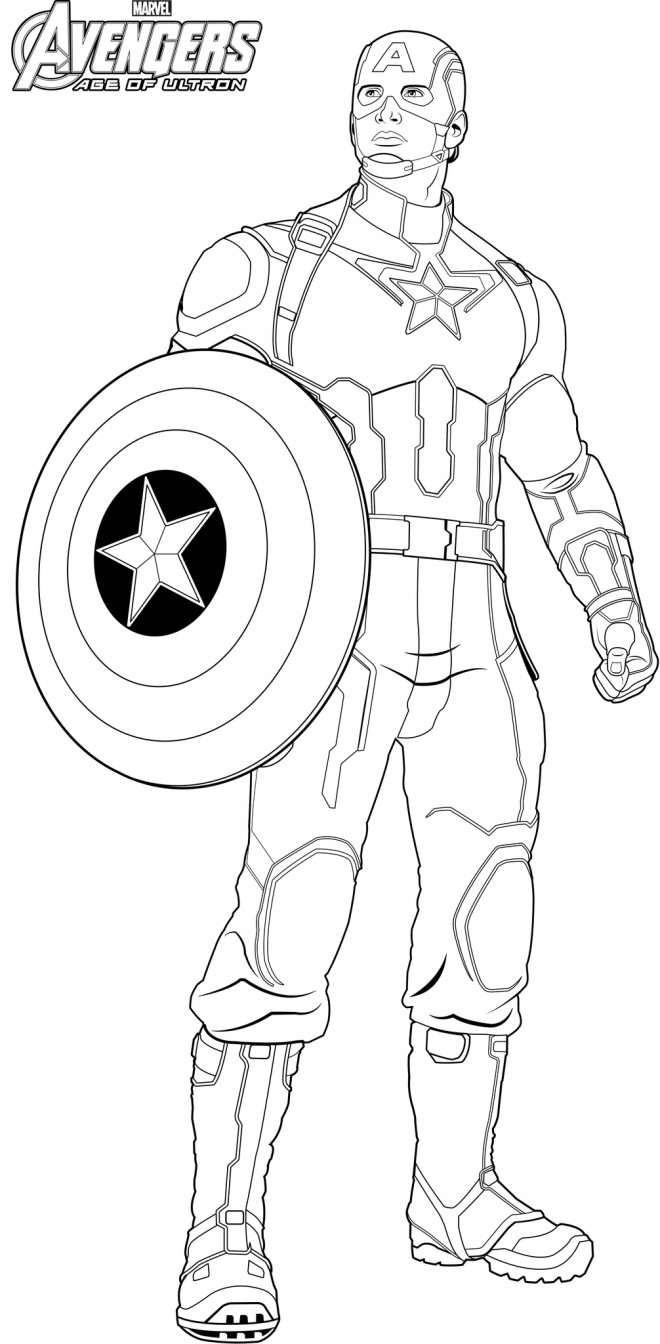 Coloriage captain america avengers age of ultron dessin - Dessin captain america ...