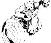 Coloriage et dessins gratuit Captain America en Ligne à imprimer